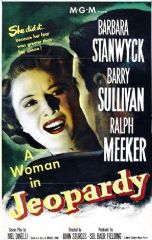 Jeopardy 1953 DVD - Barbara Stanwyck / Barry Sullivan
